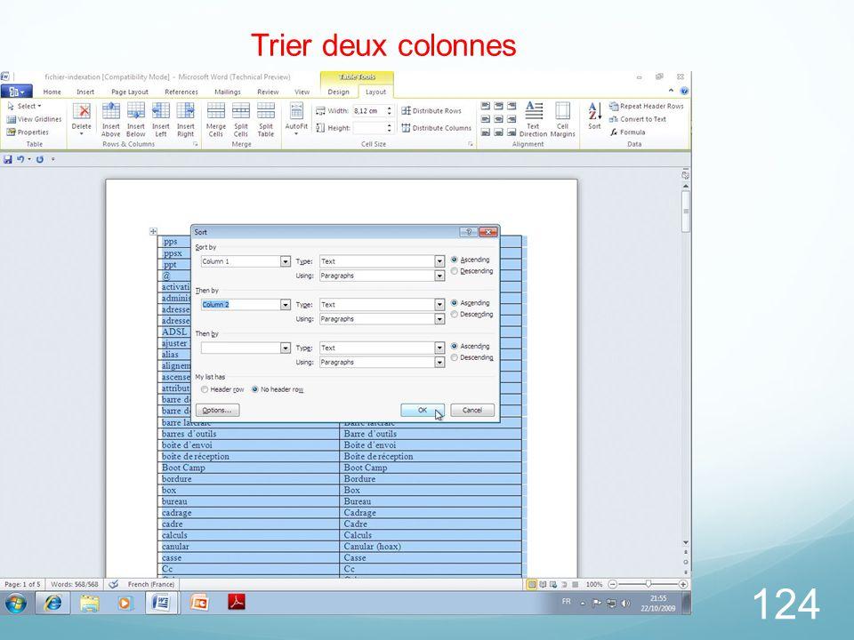 26/03/2017 Trier deux colonnes Microsoft Office Word 2010 TP