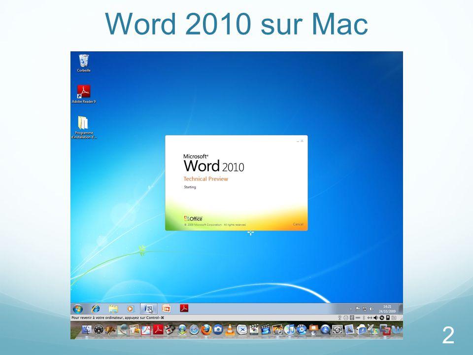 Word 2010 sur Mac