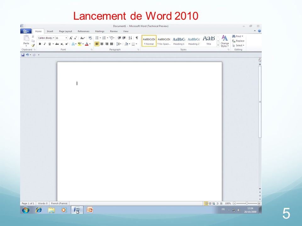 26/03/2017 Lancement de Word 2010 Microsoft Office Word 2010 TP