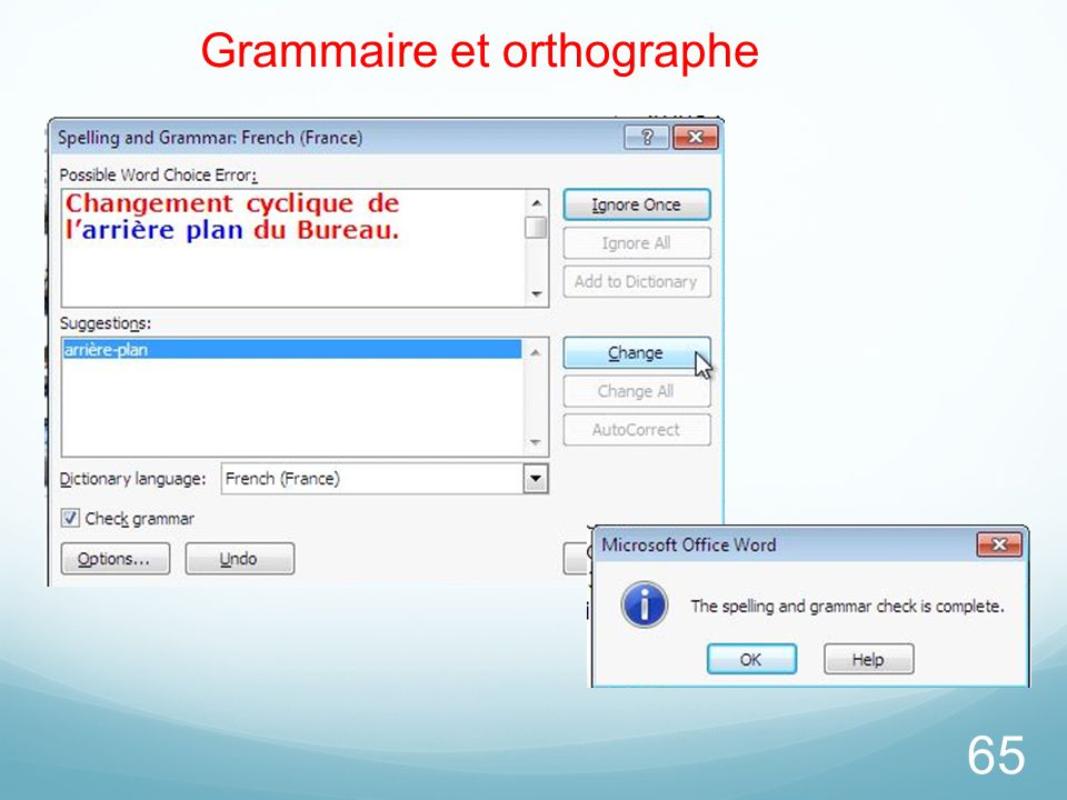 Grammaire et orthographe