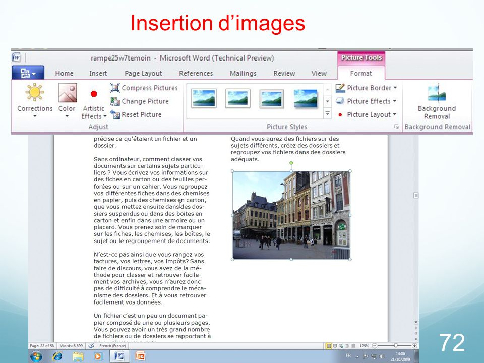 26/03/2017 Insertion d'images Microsoft Office Word 2010 TP