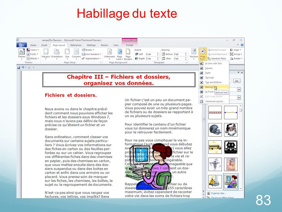 26/03/2017 Habillage du texte Microsoft Office Word 2010 TP