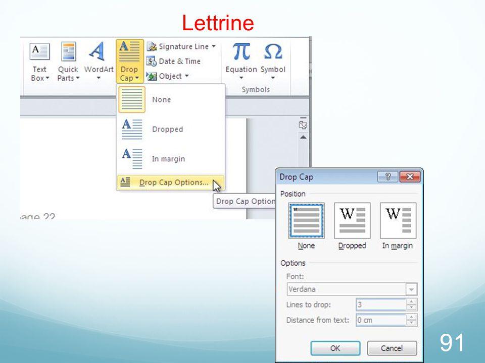 26/03/2017 Lettrine Microsoft Office Word 2010 TP