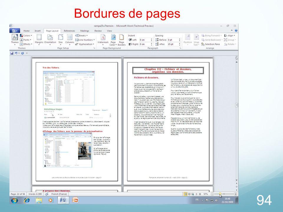 26/03/2017 Bordures de pages Microsoft Office Word 2010 TP