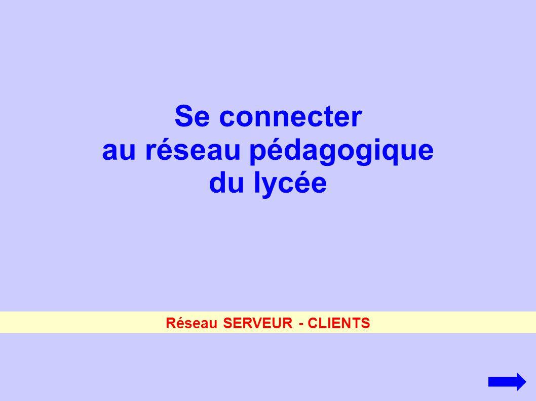 au réseau pédagogique du lycée Réseau SERVEUR - CLIENTS