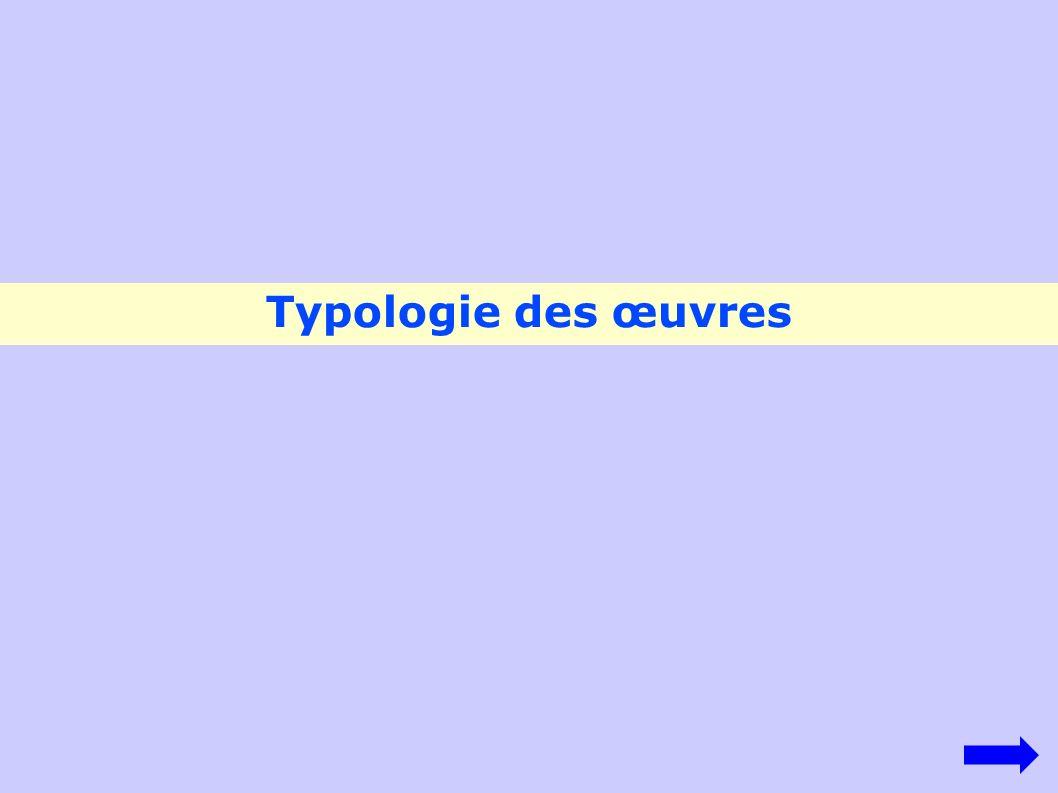 Typologie des œuvres