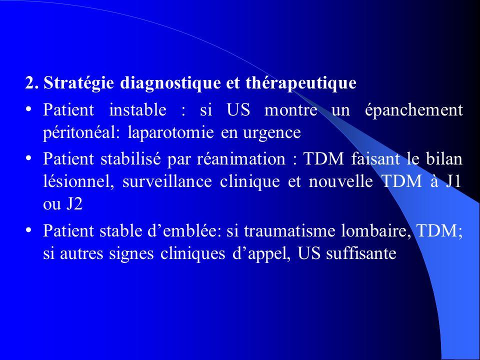 2. Stratégie diagnostique et thérapeutique