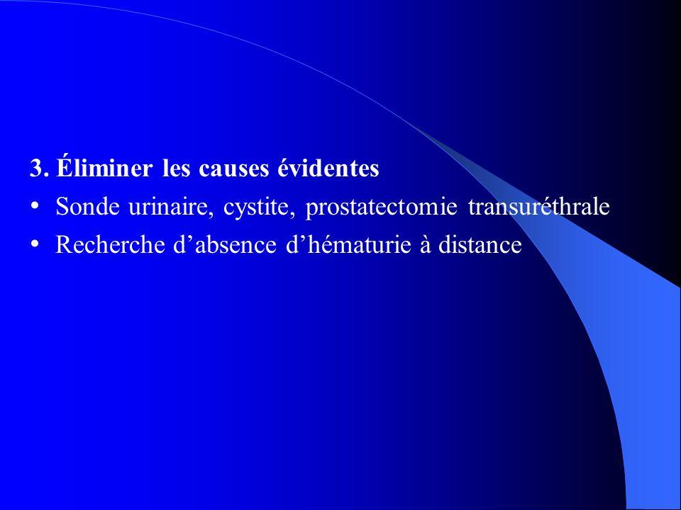 3. Éliminer les causes évidentes