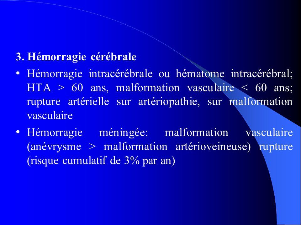 3. Hémorragie cérébrale