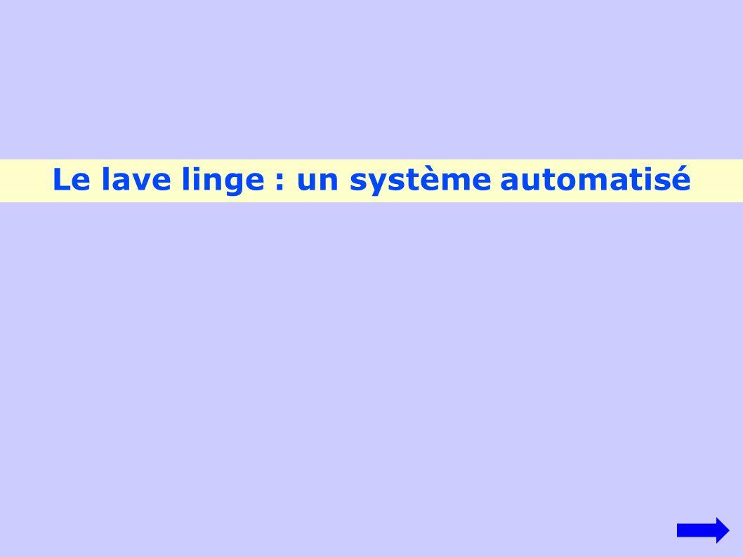 Le lave linge : un système automatisé