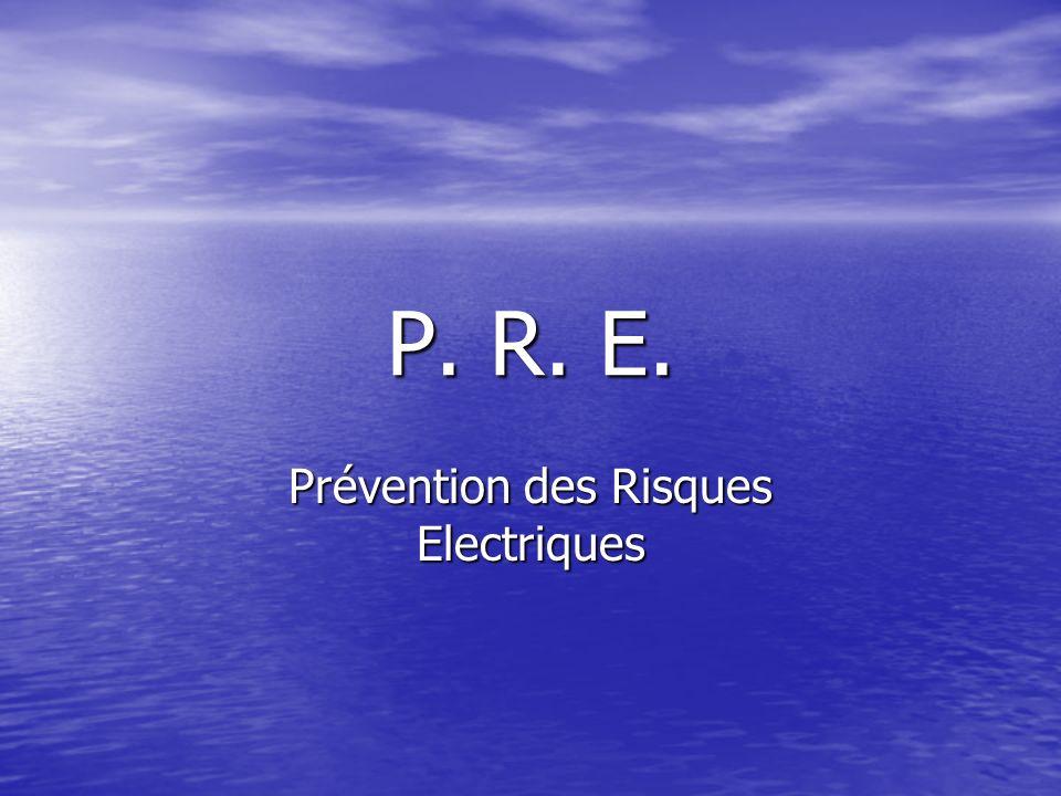 Prévention des Risques Electriques