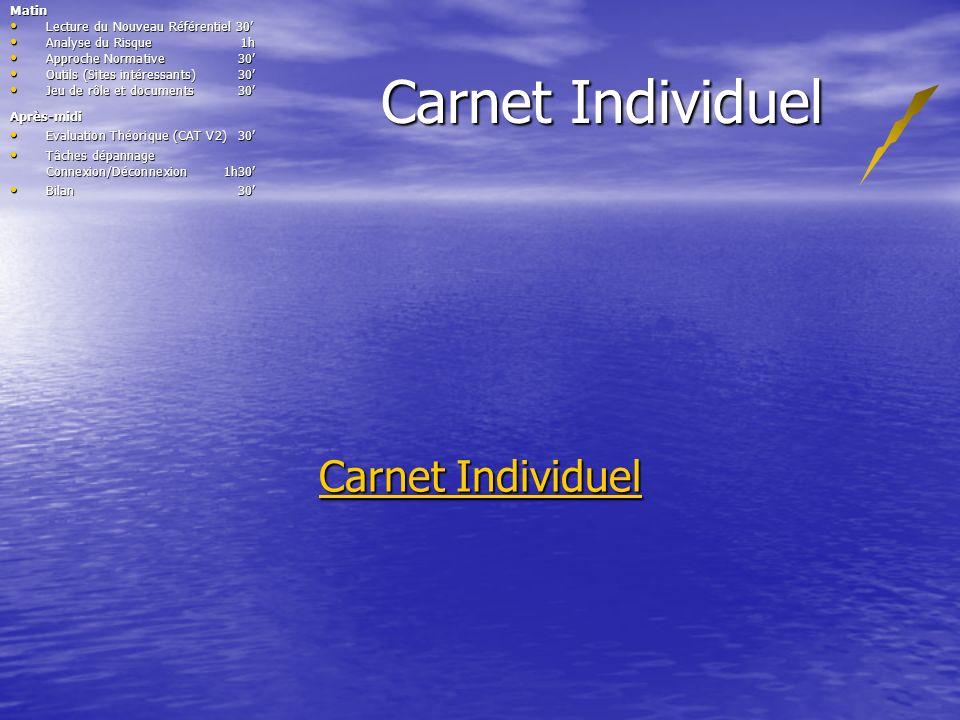 Carnet Individuel Carnet Individuel Matin