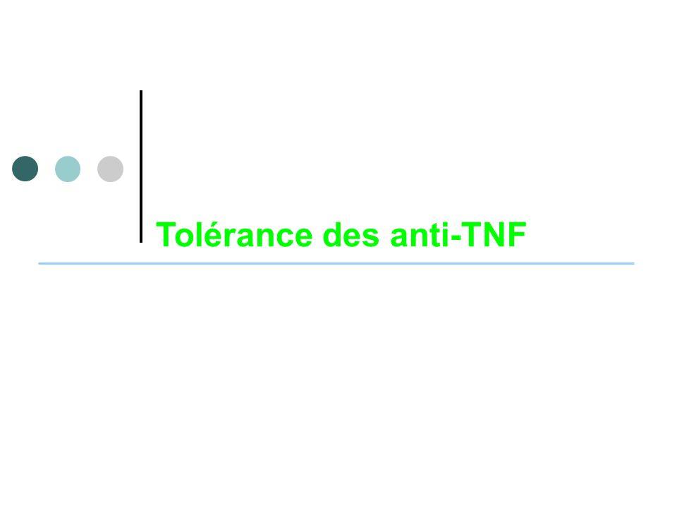 Tolérance des anti-TNF