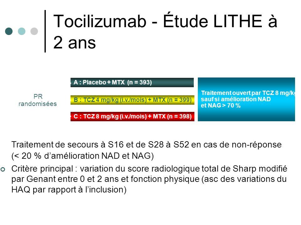 Tocilizumab - Étude LITHE à 2 ans