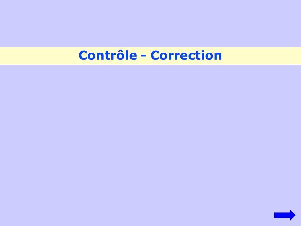 Contrôle - Correction