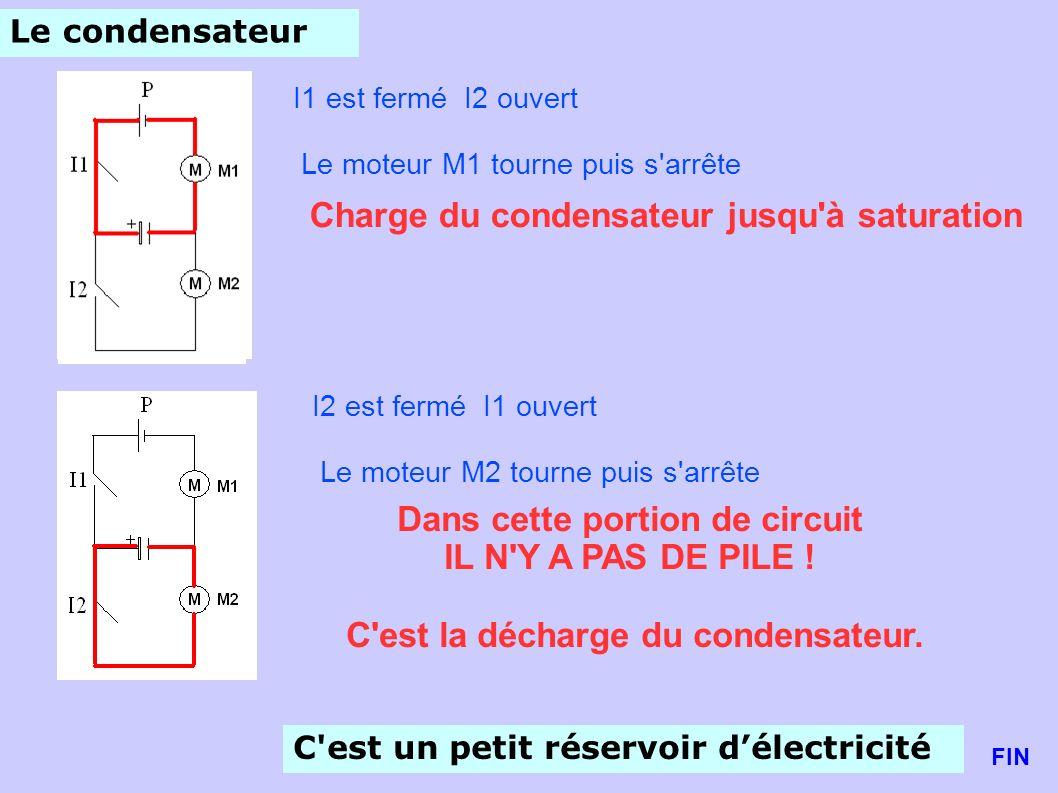 Charge du condensateur jusqu à saturation
