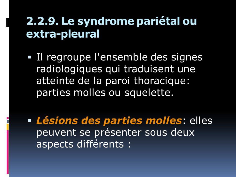 2.2.9. Le syndrome pariétal ou extra-pleural