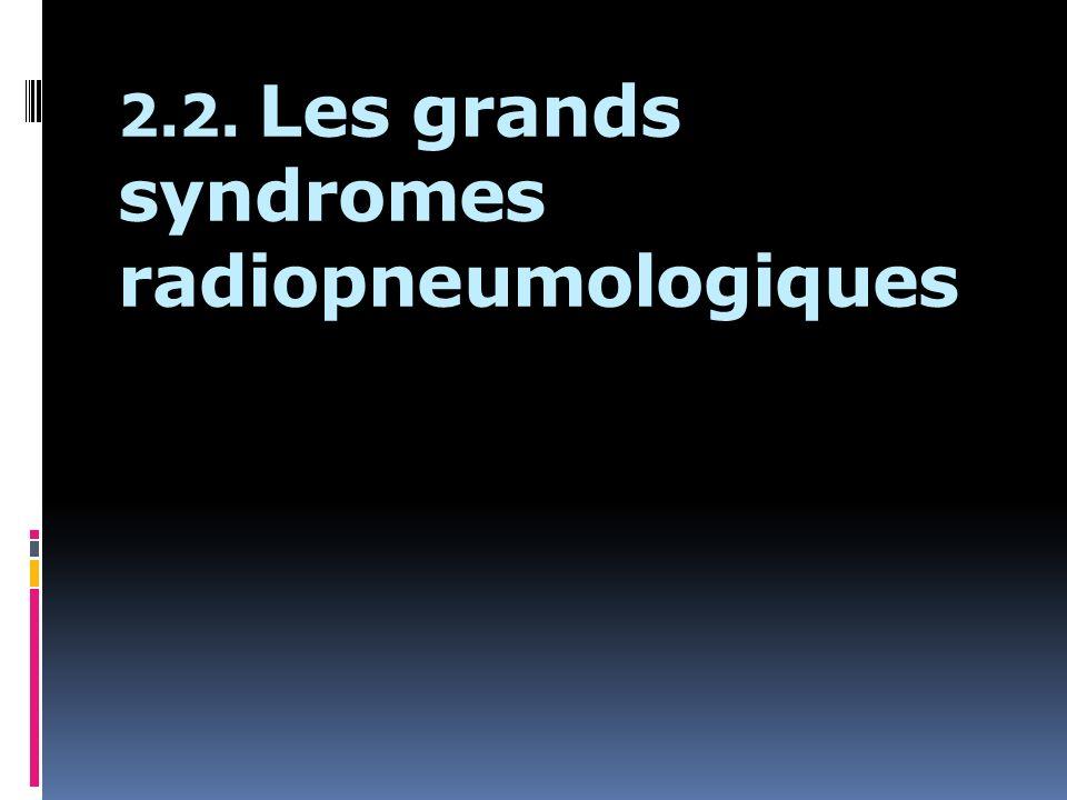 2.2. Les grands syndromes radiopneumologiques