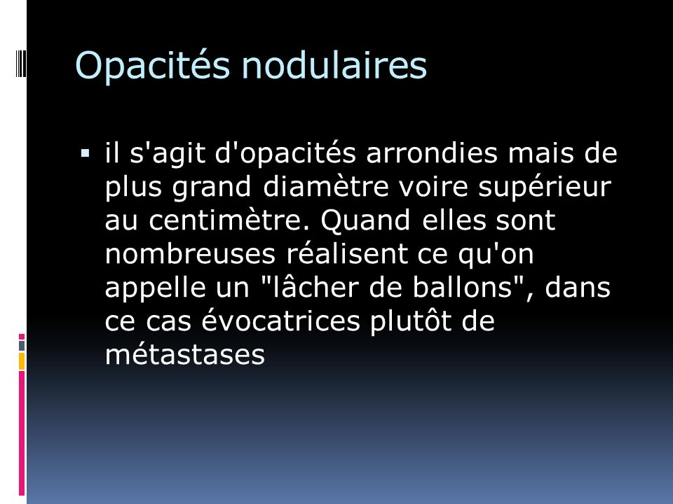 Opacités nodulaires