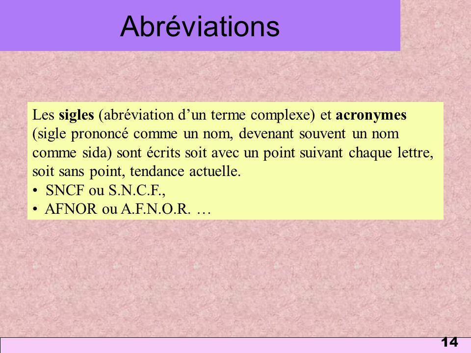 Abréviations 1 mars 2006.