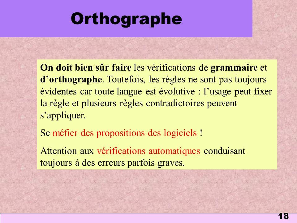 Orthographe 1 mars 2006.