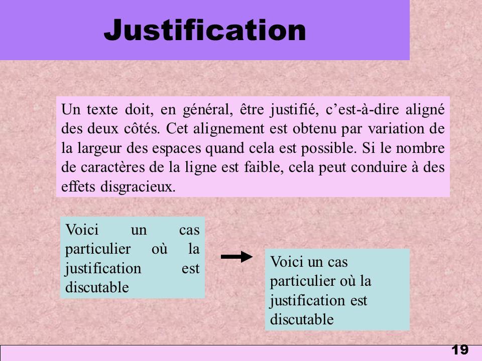 Justification 1 mars 2006.