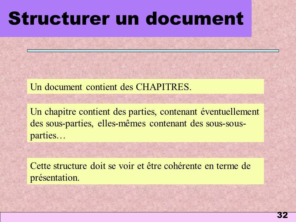 Structurer un document