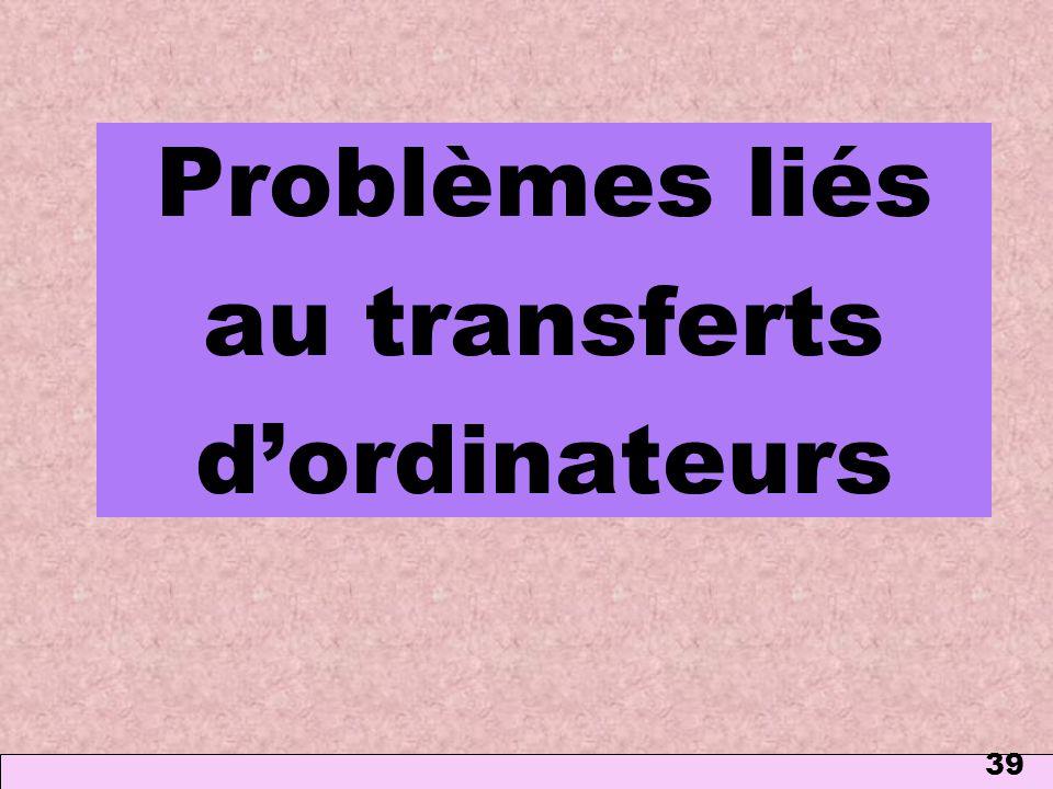 Problèmes liés au transferts d'ordinateurs
