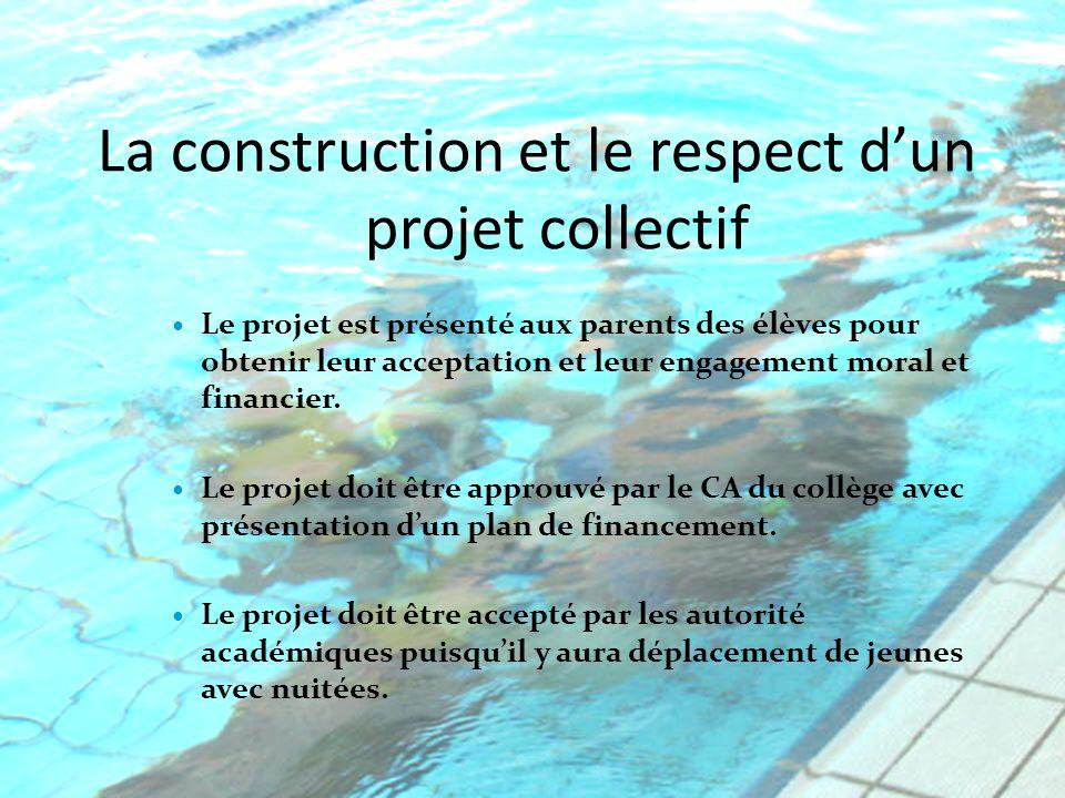 La construction et le respect d'un projet collectif