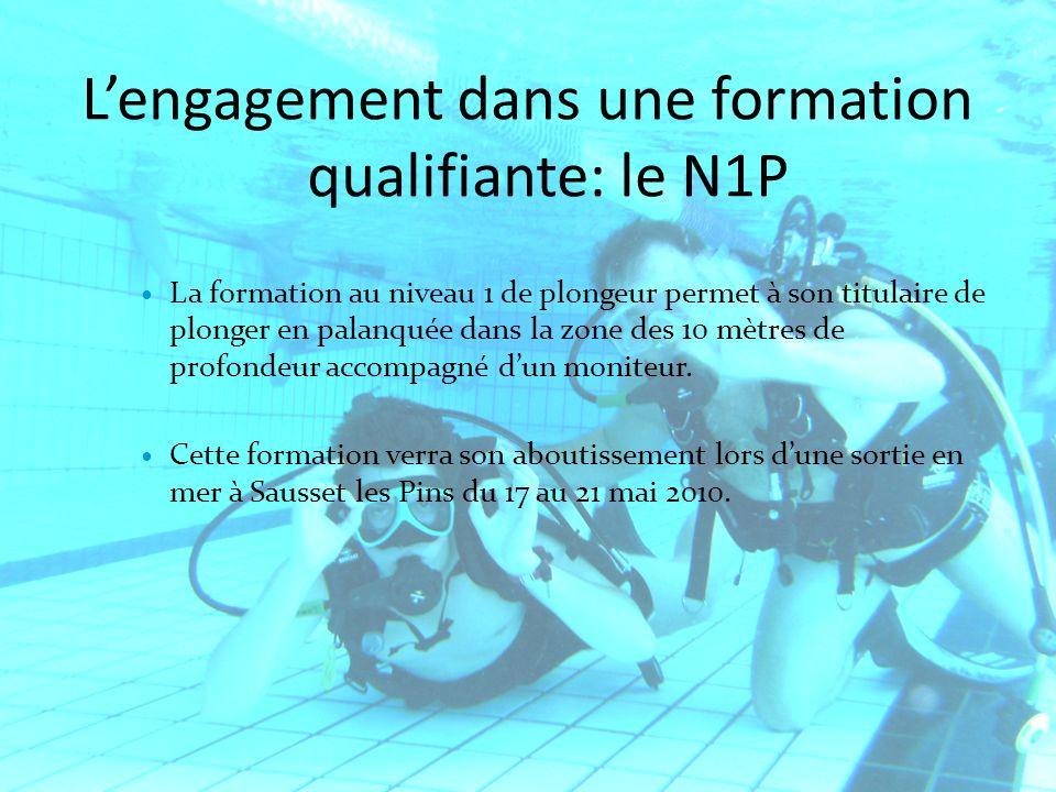 L'engagement dans une formation qualifiante: le N1P