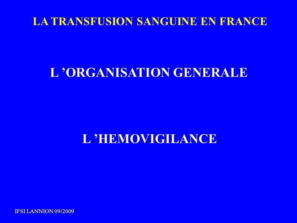 L 'ORGANISATION GENERALE