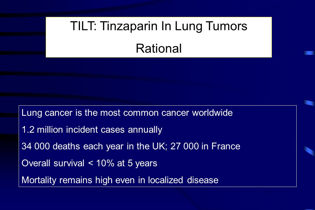 TILT: Tinzaparin In Lung Tumors