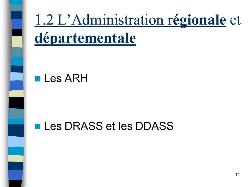1.2 L'Administration régionale et départementale