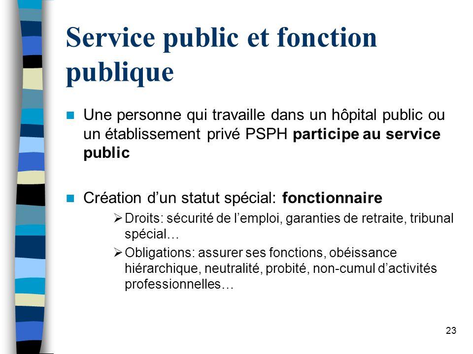 Service public et fonction publique