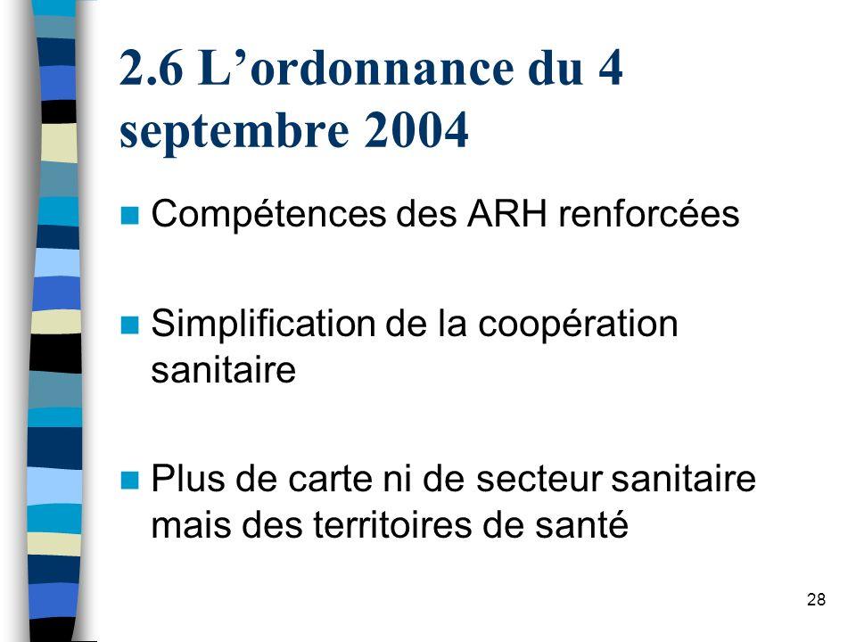 6 L'ordonnance du 4 septembre 2004