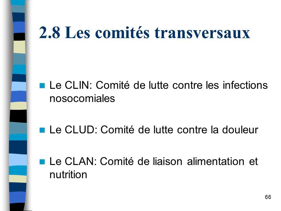 8 Les comités transversaux