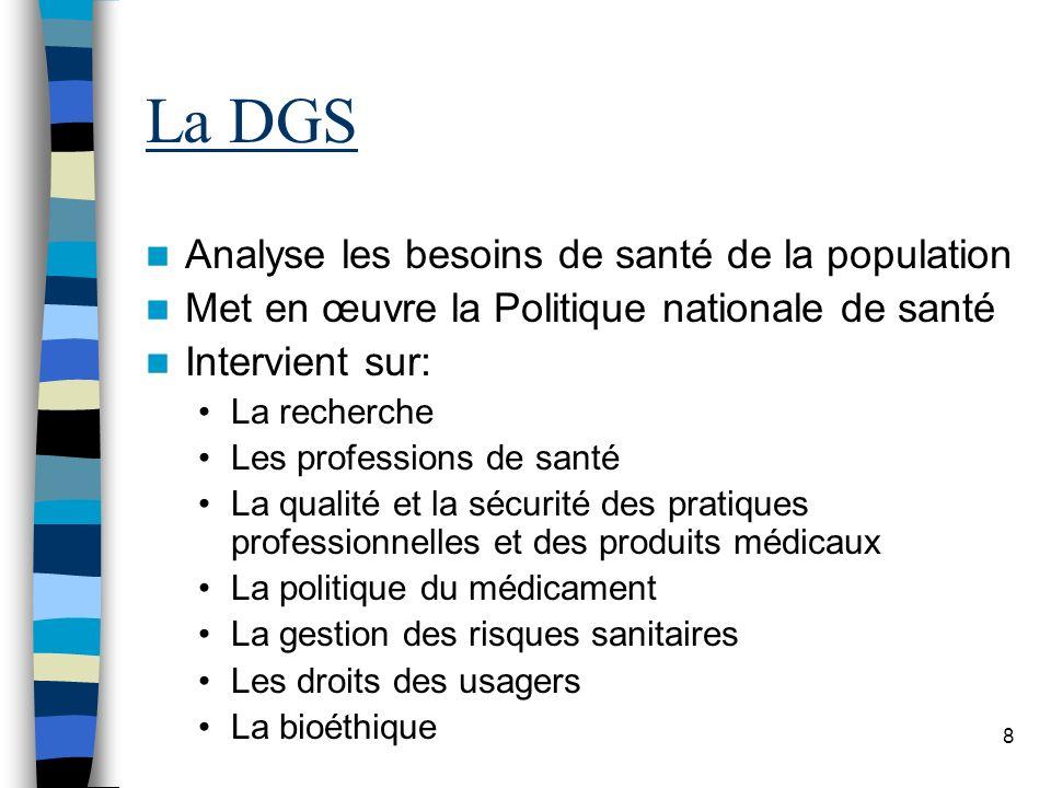 La DGS Analyse les besoins de santé de la population