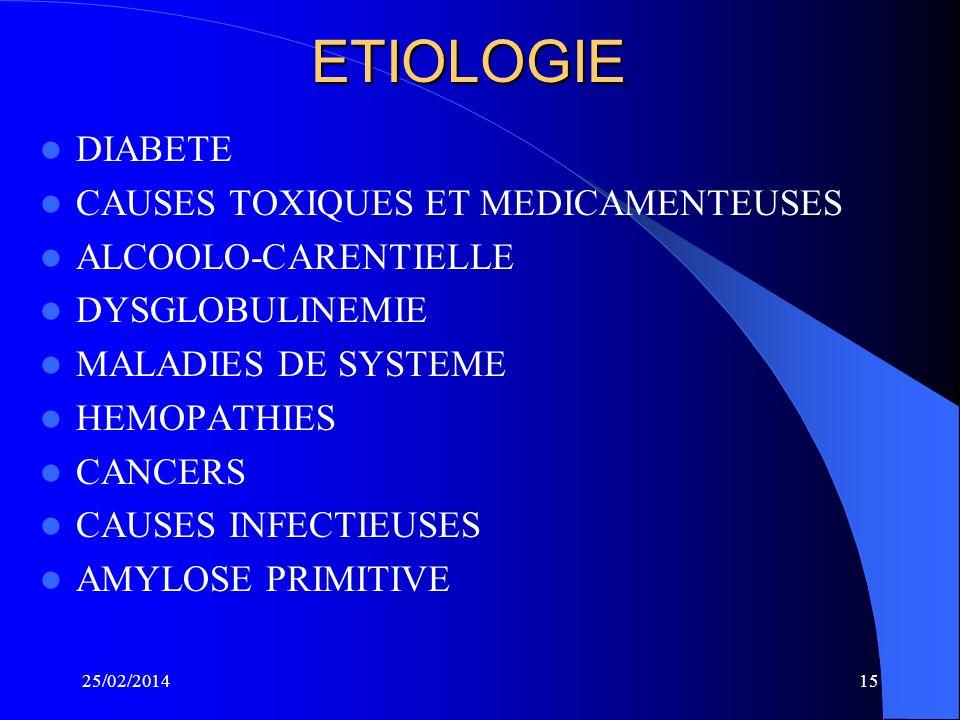 ETIOLOGIE DIABETE CAUSES TOXIQUES ET MEDICAMENTEUSES