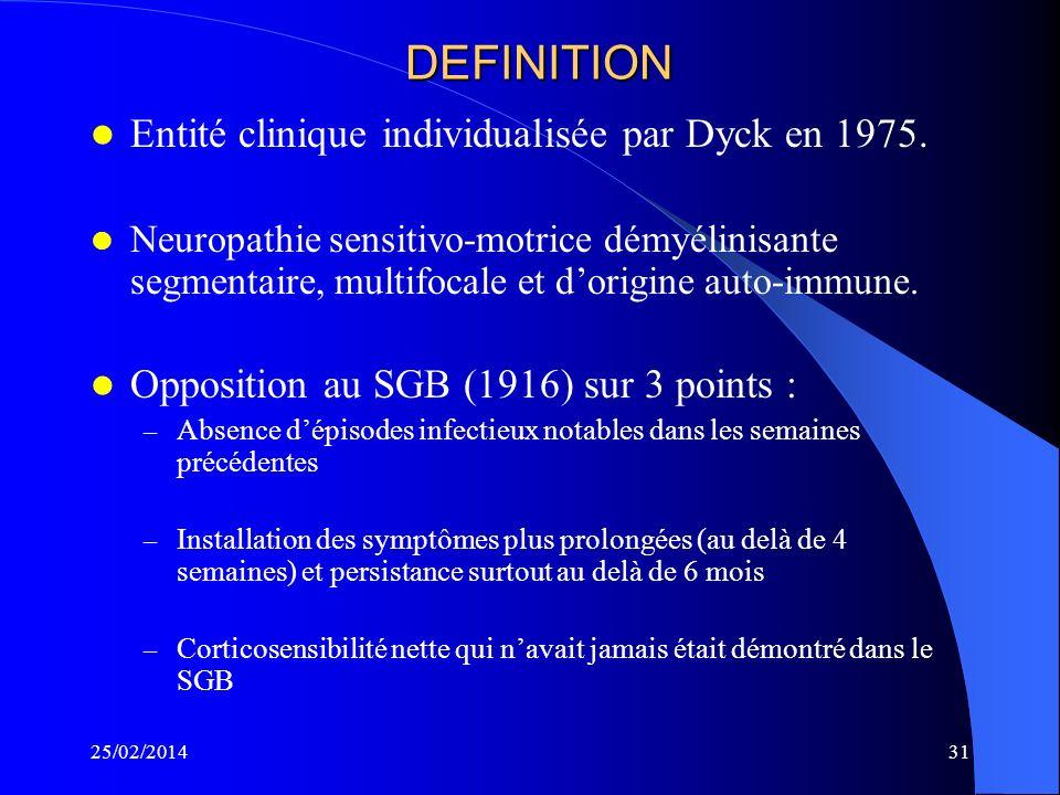 DEFINITION Entité clinique individualisée par Dyck en 1975.