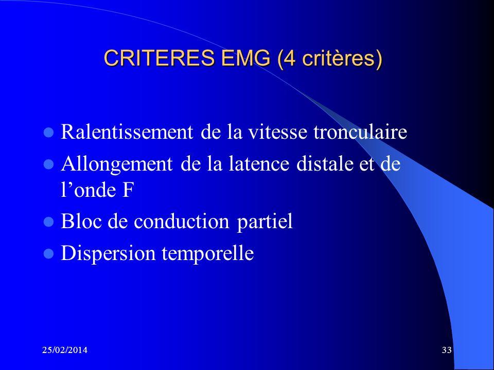CRITERES EMG (4 critères)