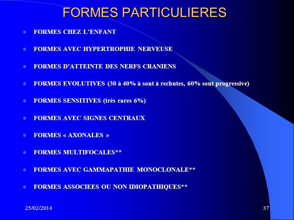 FORMES PARTICULIERES FORMES CHEZ L'ENFANT