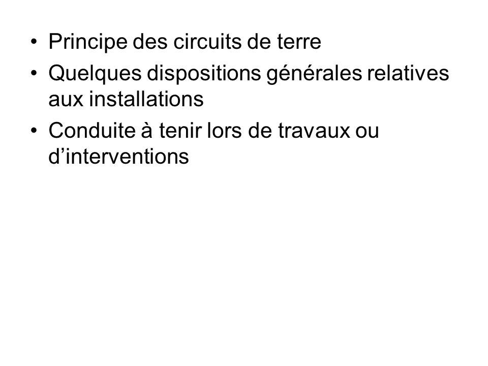 Principe des circuits de terre