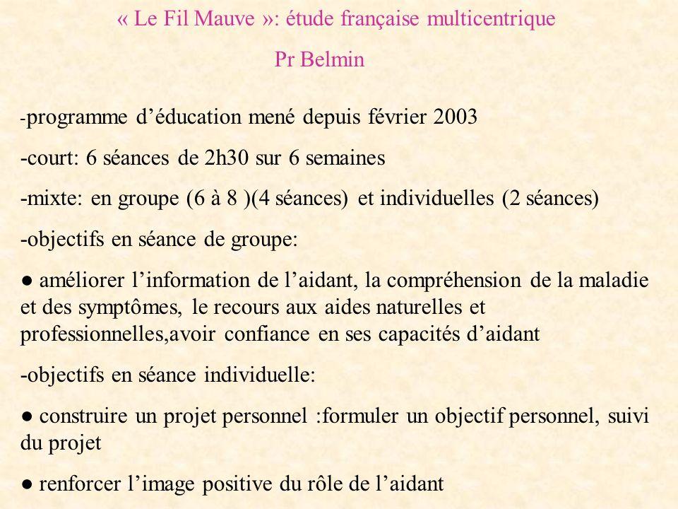 « Le Fil Mauve »: étude française multicentrique