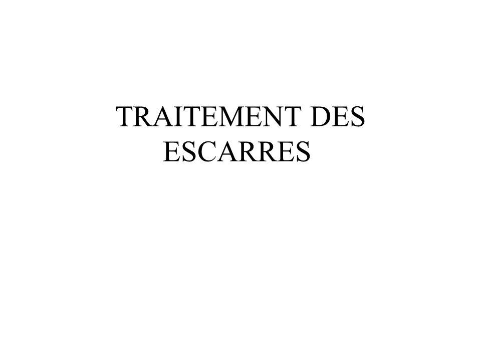 TRAITEMENT DES ESCARRES