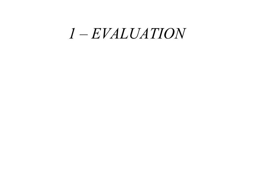 1 – EVALUATION