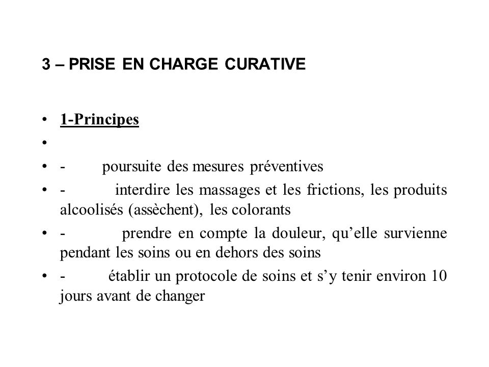 3 – PRISE EN CHARGE CURATIVE