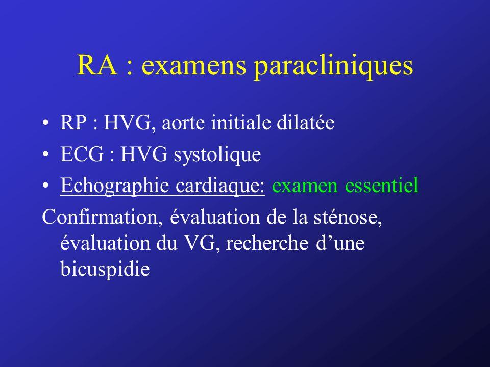 RA : examens paracliniques