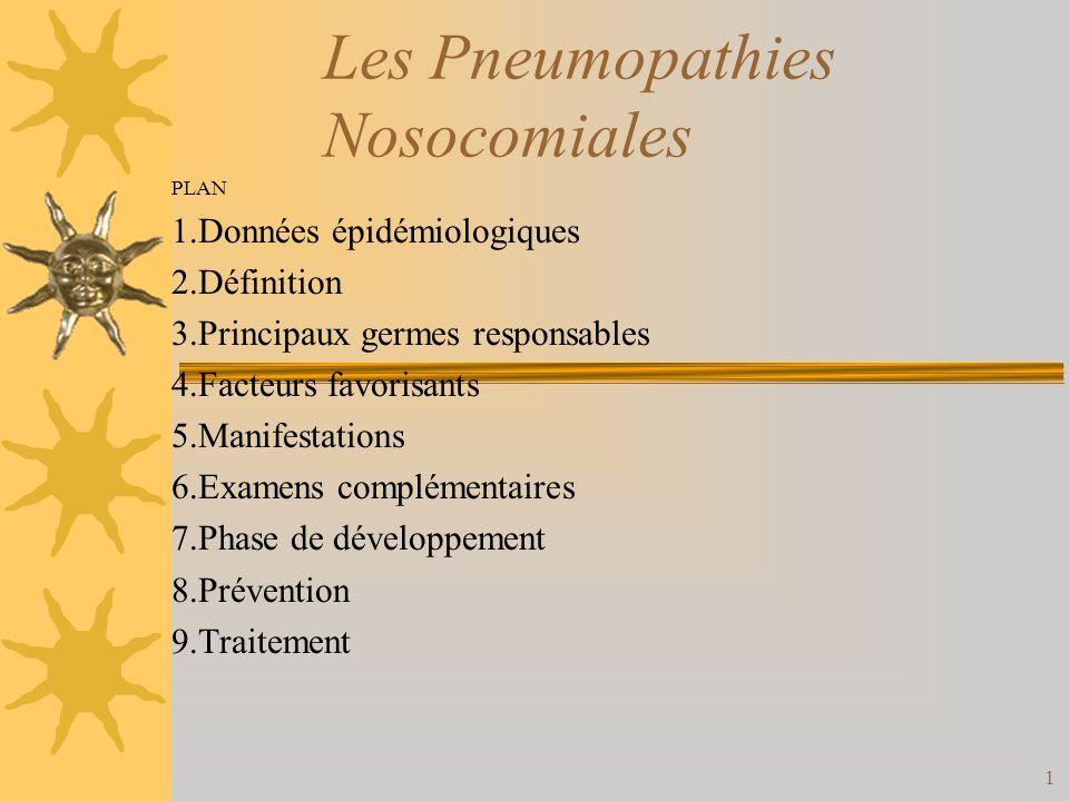 Les Pneumopathies Nosocomiales