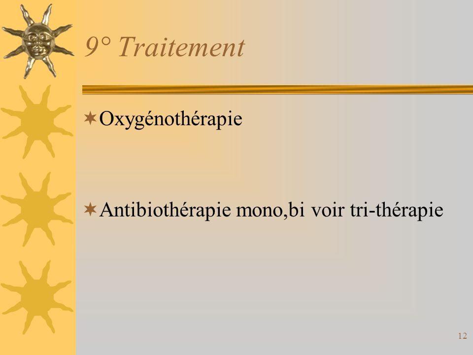 9° Traitement Oxygénothérapie