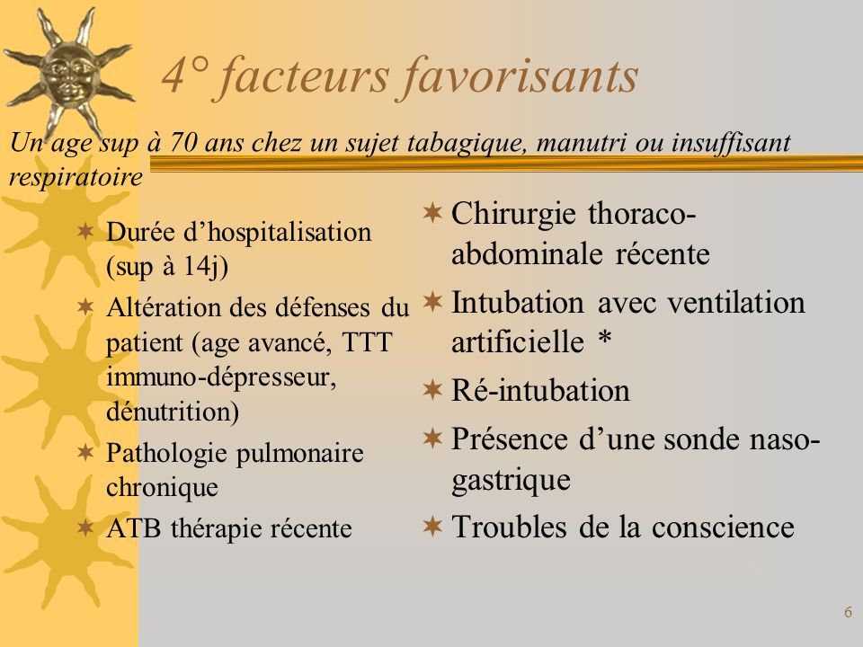 4° facteurs favorisants